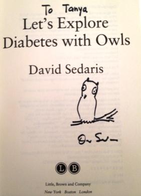 Sedaris signed page